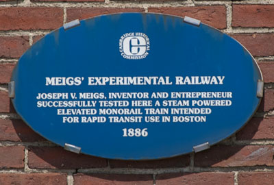 Meigs Elevated Railway Plaque