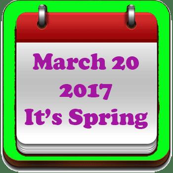 It's Spring
