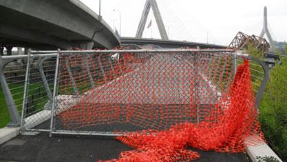 North Bank Bridge before opening