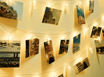 LED Photo Clip String Lights, 40 Photo Clips