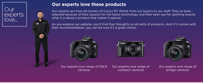 Currys Cameras and Lenses