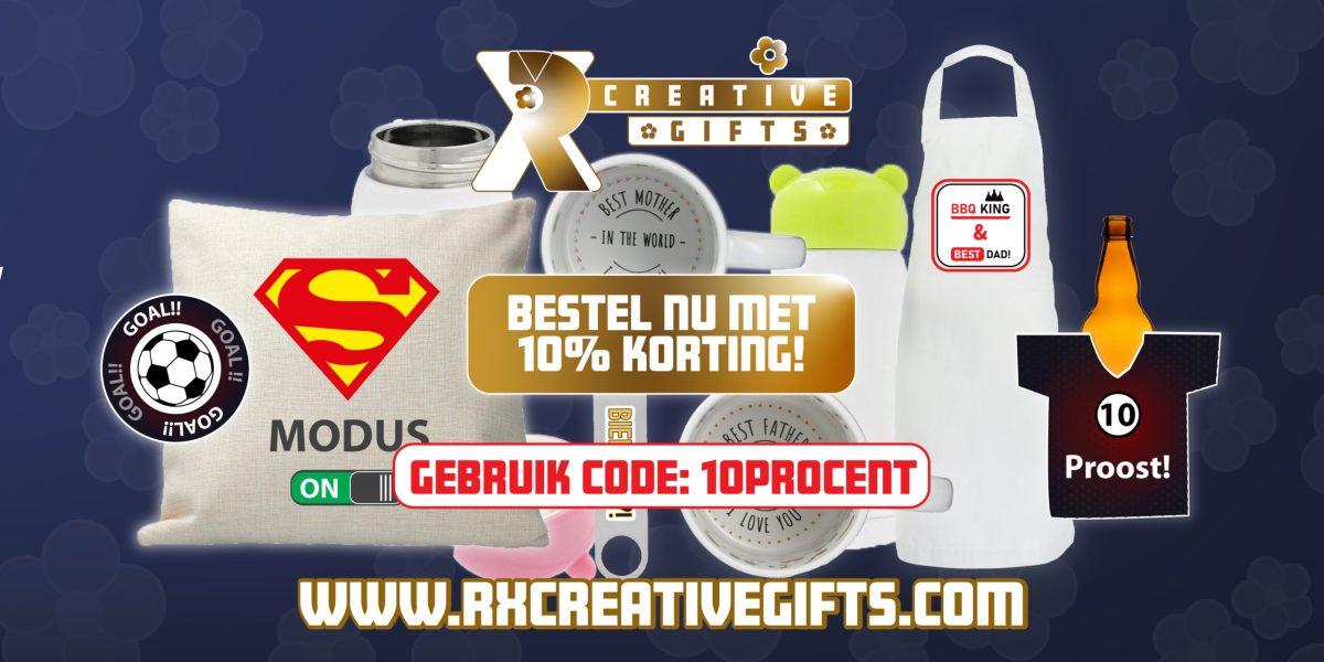 10 procent korting rxcreativegifts.com