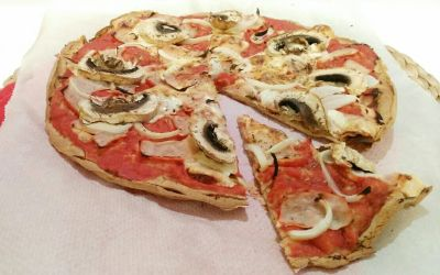 Pizza fit con masa de avena [Receta fitness]