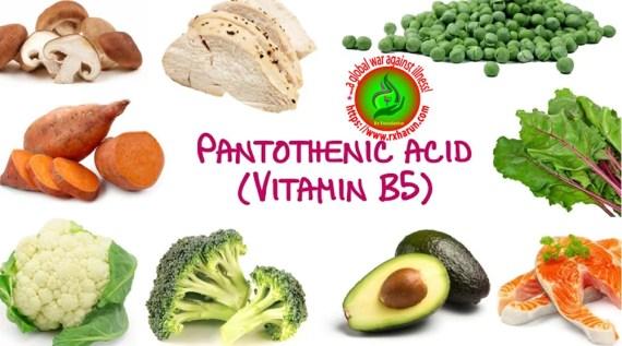 Vitamin B Complex/B vitamins- vitamin B5