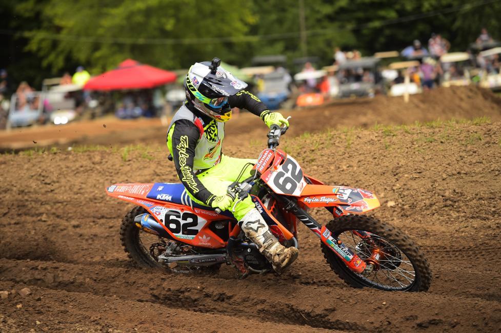 Mitchell Falk earned the win in the 250 A moto two yesterday afternoon.