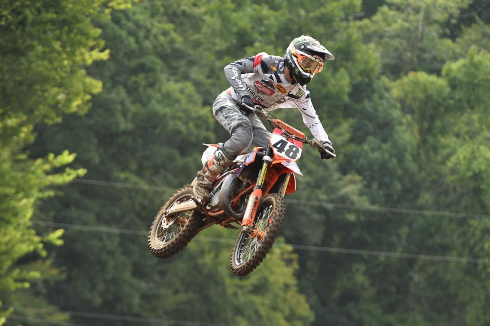 Nate Thrasher dominated once again, earning the Supermini 1 (12-15) moto one win.