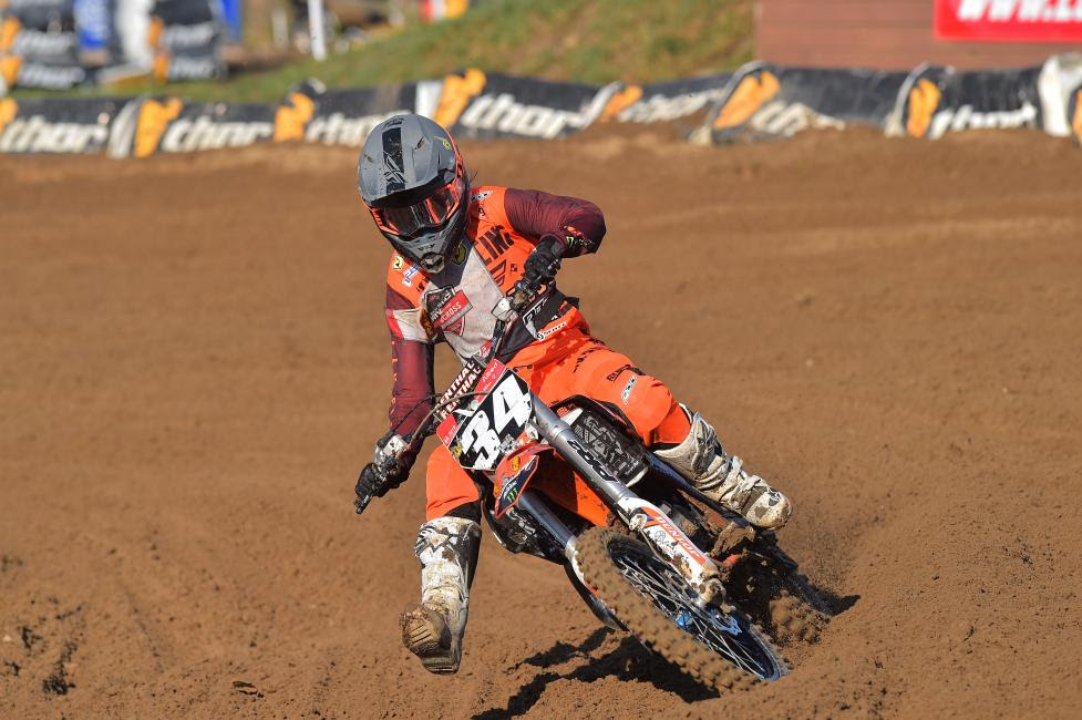 Tayler Allred earned the Girls (11-16) moto two win Friday morning.