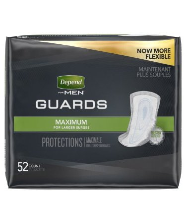 Bladder Control Pad Depend Heavy Absorbency One Size Fits Most Male Disposable (52/BG 2BX/CS)