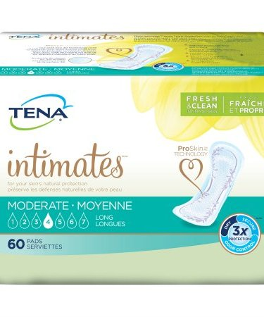 Bladder Control Pad TENA Intimates Moderate Long 12 Inch Length Moderate Absorbency Unisex Disposable