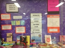 Getting the word out--the RX for Reading Display Case at Bryant.