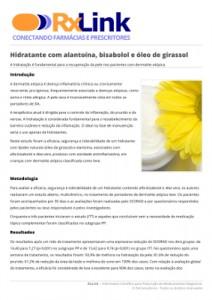 Hidratante alantoina bisabolol girassol aloe