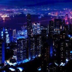 night hd anime background pc sky 1080 popular most 1920 light wallpapersbyte skyscrapers