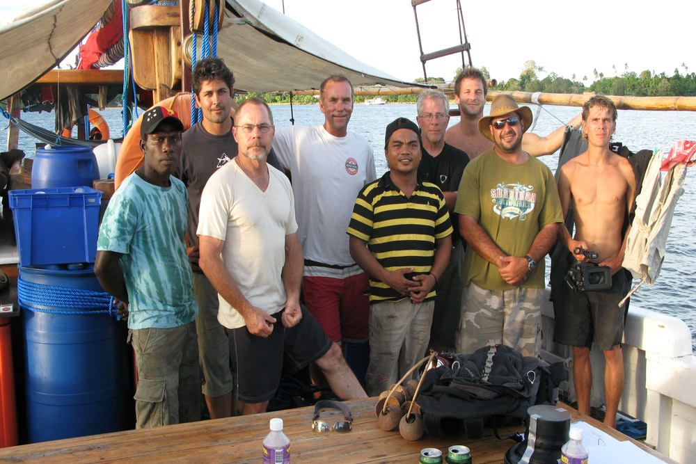 Team crew pic, shows like Shark Tribe cant be made without a whole lot of support int he field