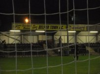 Looking at the main stand through the net