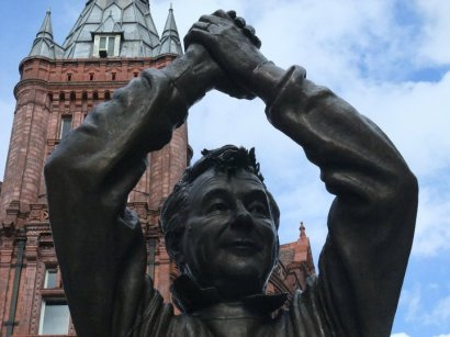 Brian Clough statue in the City Centre