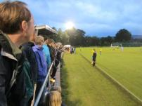 A floodlight Sandygate is filled with over 300 supporters