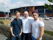 Me, my Dad and Michael ready for a new season