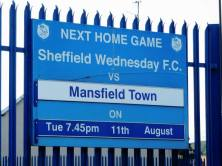 Mansfield Town are today's visitors