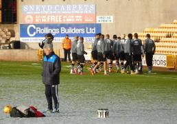 The Vale players warm up