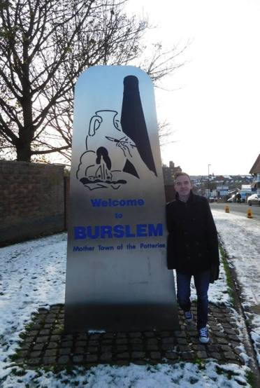 Arrived in Burslem, home of Port Vale