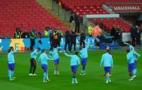 Holland's players warm up
