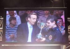 Mitchell Mann winning Junior Pot Black at the Crucible