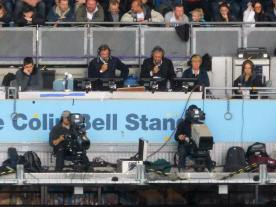 Glen Hoddle in the gantry