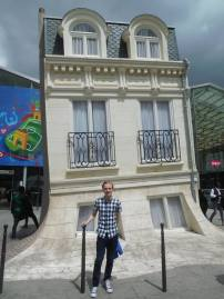 A novelty house outside the Gare Du Nord station