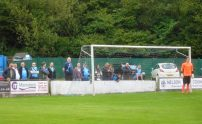 The Bishop Auckland fans behind the goal for the second half