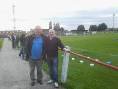 Bill, making his 58th visit to Muglet Lane, and my Dad - visiting his 96th ground for a game!
