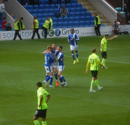 Conor Wilkinson opens the scoring in the seventh minute