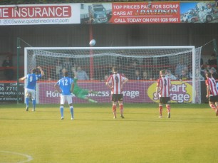 A missed penalty ends Matlock's hopes of a turnaround