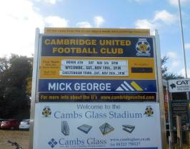 Dover Athletic's first ever trip to Cambridge United