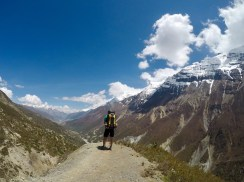 Ryan amidst the Annapurna mountain range. View just after Shree Karka lunch stop.
