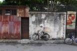 Street art on Armenian Street in Georgetown, Penang.