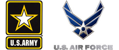 US Air Force & Army logos