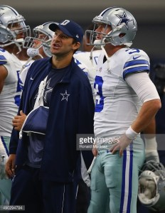 Tony Romo continues to recuperate from a broke collarbone