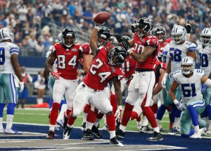 The Falcons were Flying high all afternoon against the Cowboys.