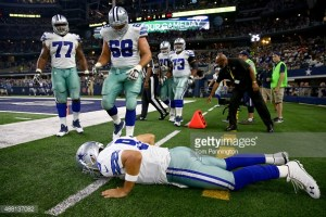 Tony Romo after attempted tackle!