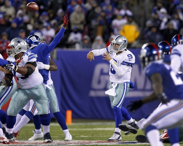In frigid temperatures and swirling winds, the Cowboys and Giants had played to a 21-21 stalemate after nearly 56 minutes of play. But one final drive from Tony Romo gave the road-weary Cowboys a hard-fought victory, and hope going into the season's final stretch. Playing away from home for the fourth time in five games, the Cowboys played a sloppy brand of football for much of the game (11) penalties, but, in the end, were saved by the play of their quarterback. Romo's pair of touchdown passes to Jason Witten gave Dallas a 21-6 third-quarter lead. And when the Giants responded with a pair of scoring drives of their own, Romo did perhaps his finest work of the season, marching the Cowboys 64 yards in 13 plays to set-up Dan Bailey's 35-yard game-winning kick.