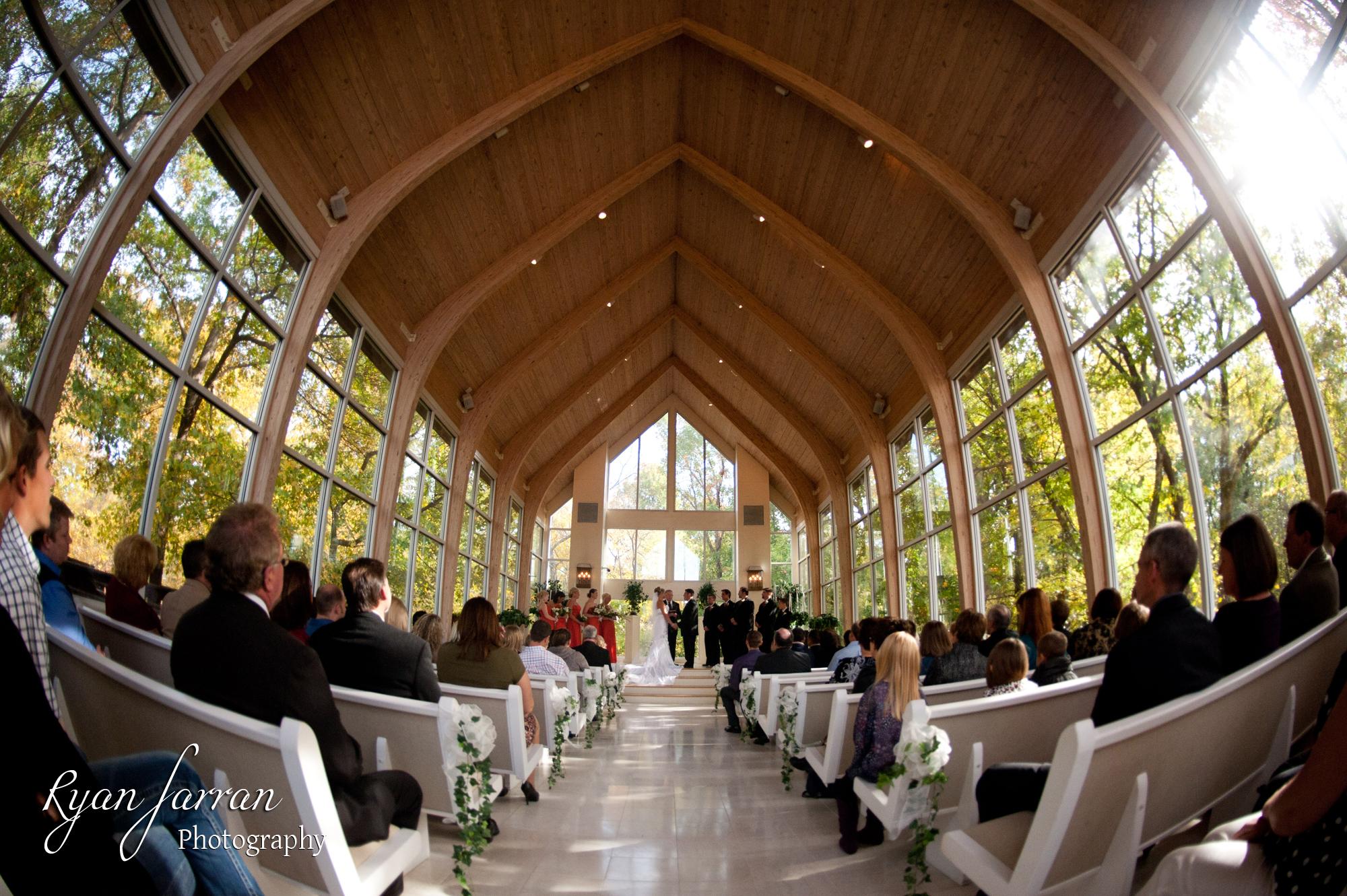 Fall wedding at Tarp Chapel Tulsa OK  Tulsa Wedding Photographer Ryan Farran