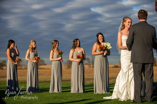 Bartlesville OK Outdoor sunset wedding  Tulsa Wedding Photographer Ryan Farran