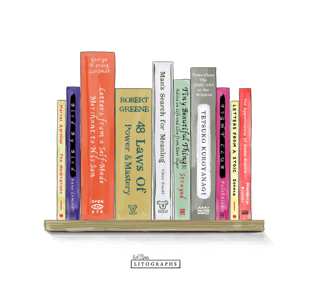 Ryan Holiday Bookshelf