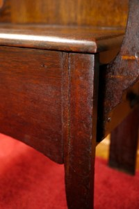 Vtg Antique Early 1900s Tiger OAK Hall Tree w/ Bench ...