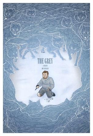 Original poster design for The Grey