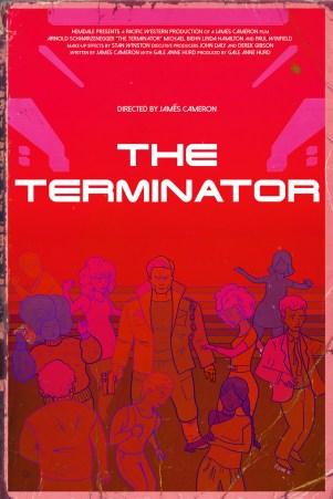 Original poster design for The Terminator