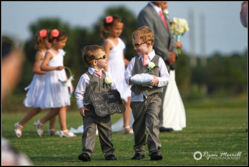 cute ringbearer wedding ceremony