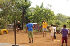 December 2013 - Ministering to some kids in a little Nicaraguan village while helping lead a DTS outreach.