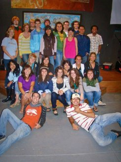September 2010 - Ryan and I with our DTS when we first came to YWAM. Before we knew what we were getting ourselves into! (Ryan's in the back with dreads, I'm in the front wearing purple.)