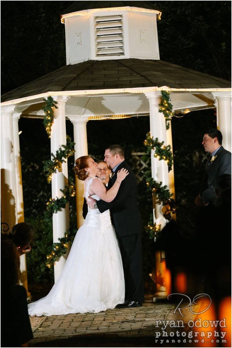 Anthony  Kristins Winter Wedding  Butlers Courtyard League City TX  Ryan ODowd